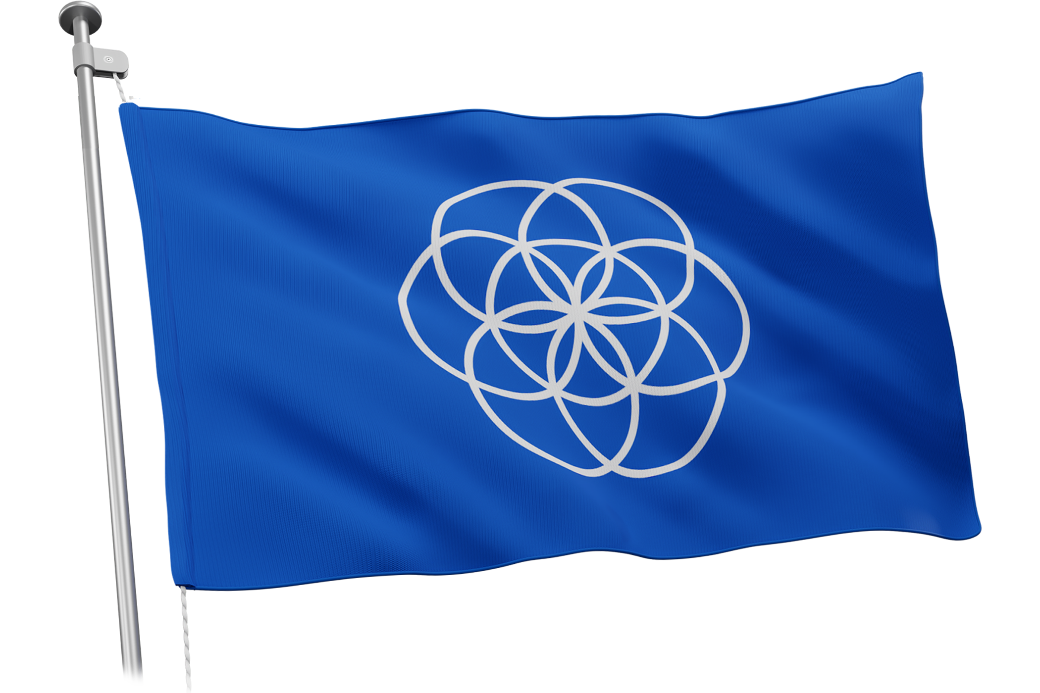 The Earth flag - Blue. To encourage a sustainable environment